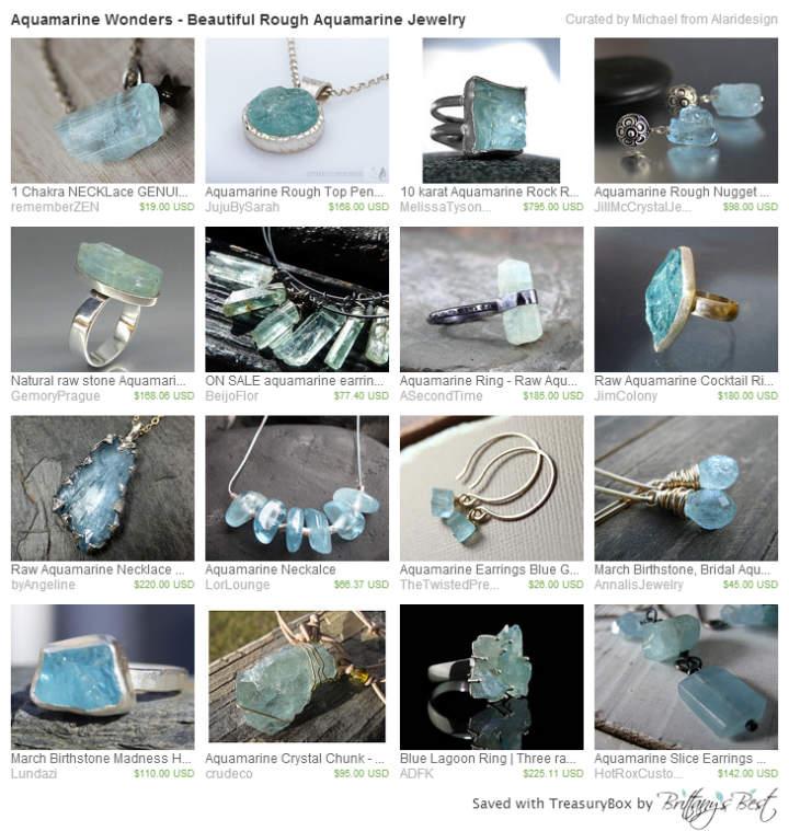 Aquamarine Wonders - Beautiful Rough Aquamarine Jewelry