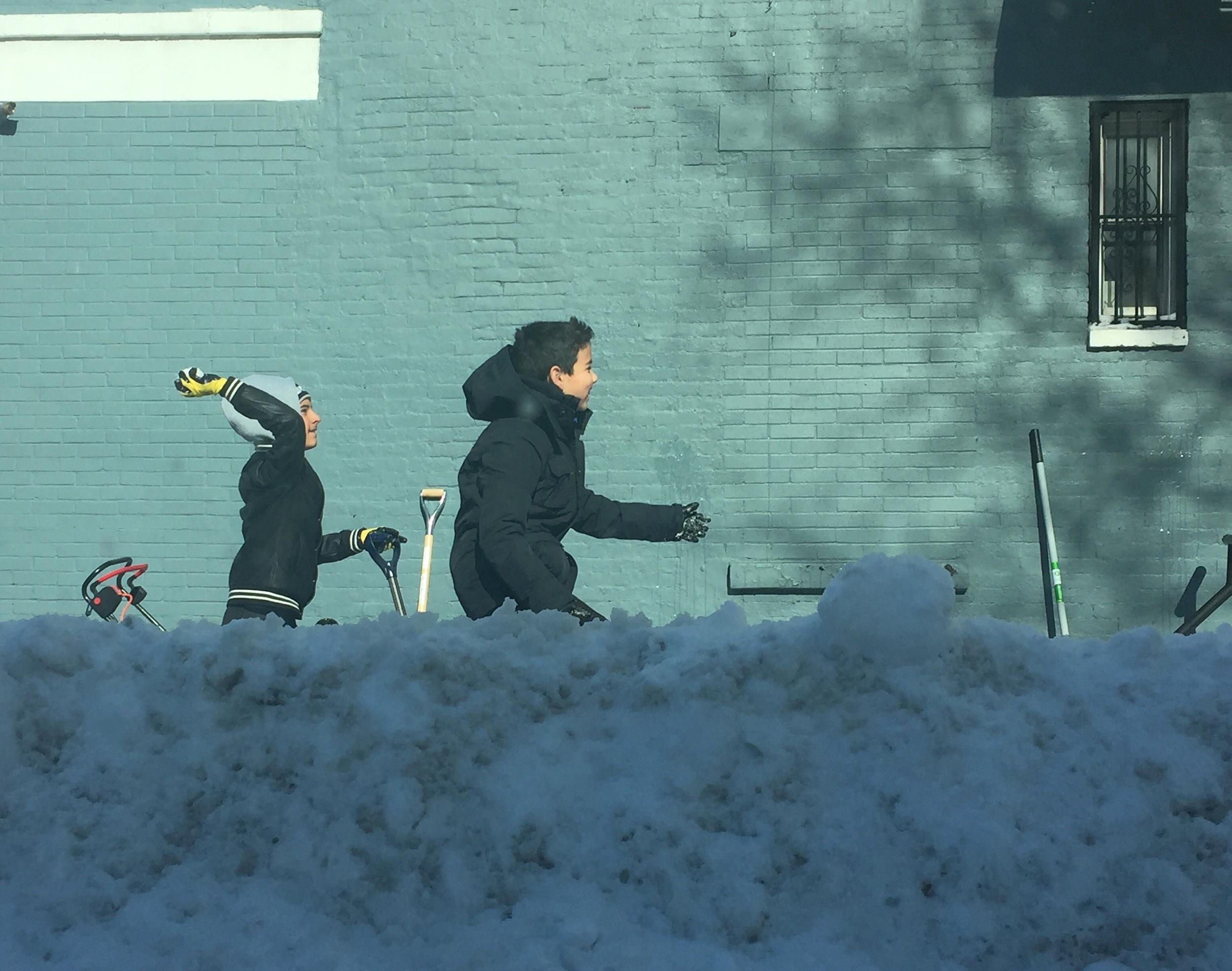 Playing in Snowzilla