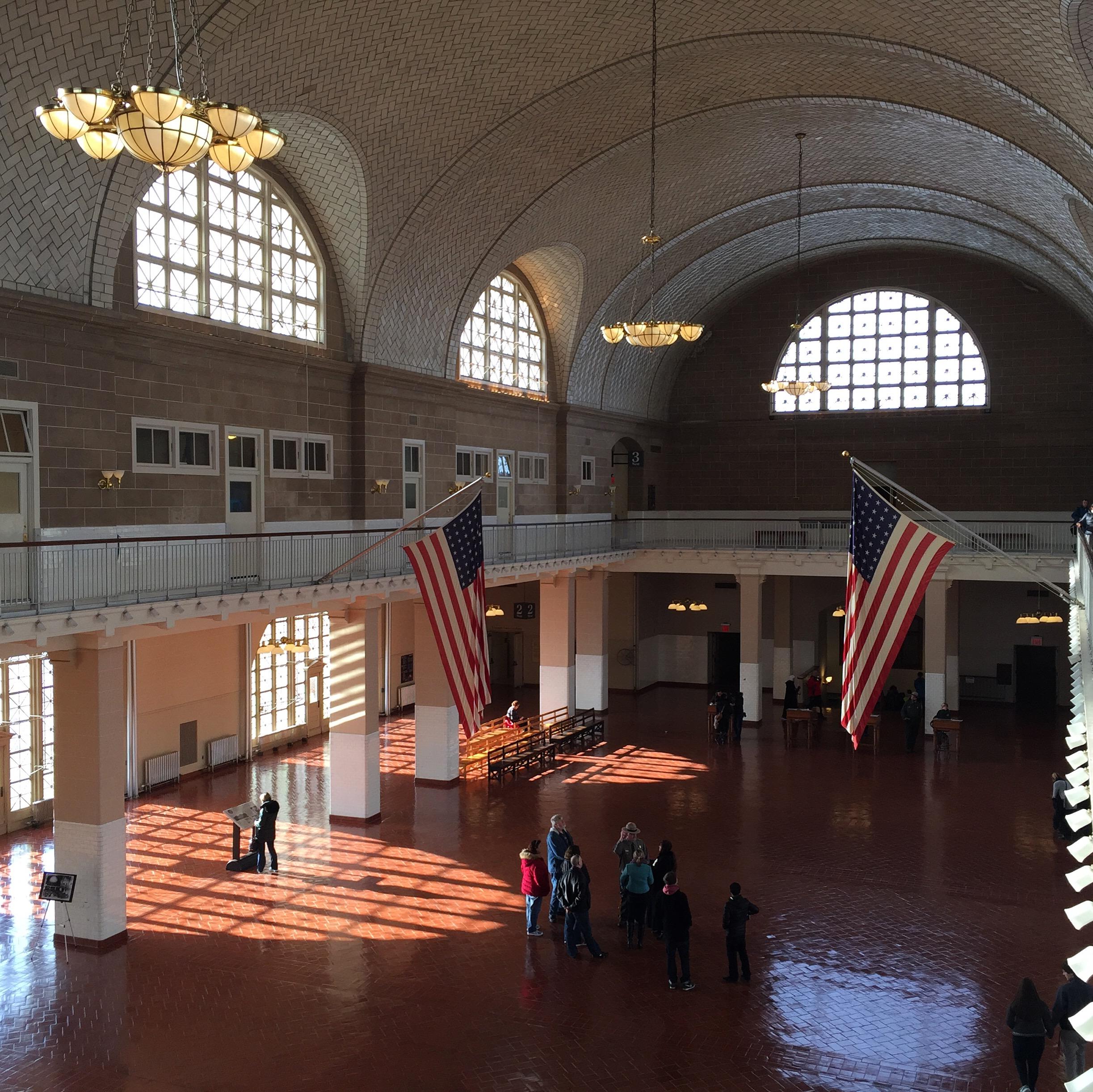 Main Hall at Ellis Island