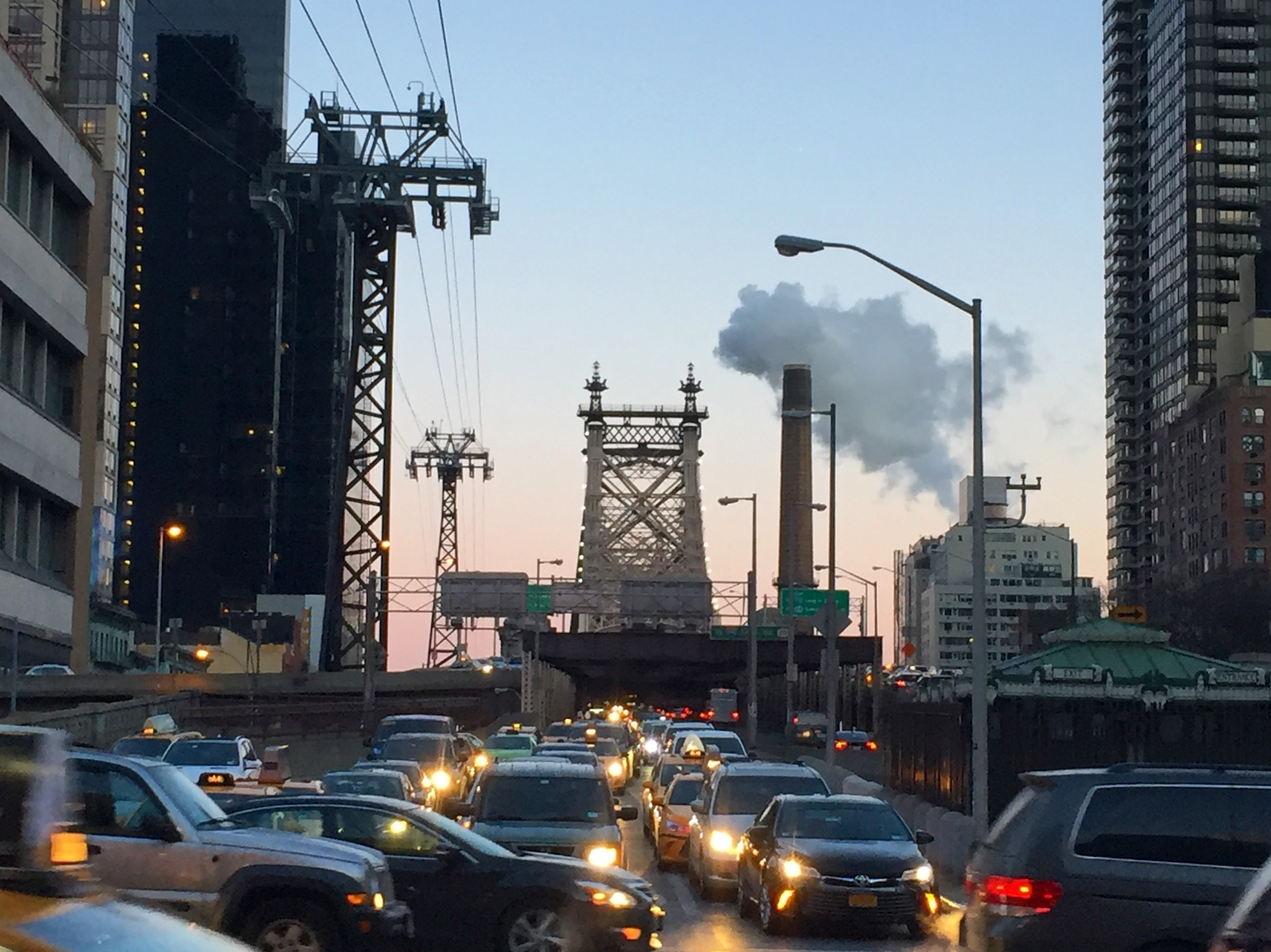 Industrialized traffic city: how I imagined all of New York to feel.