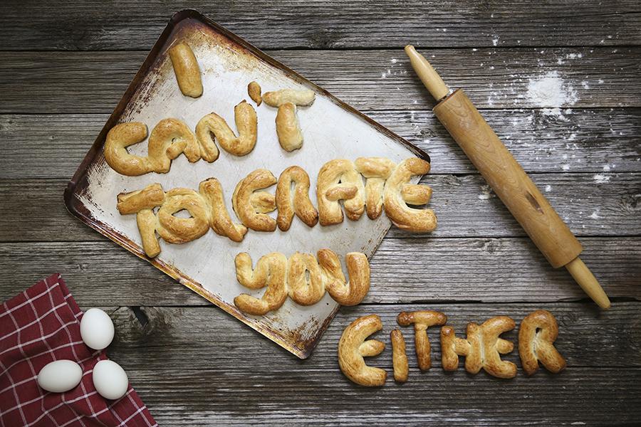 Gluten Intolerant. Human intolerant.