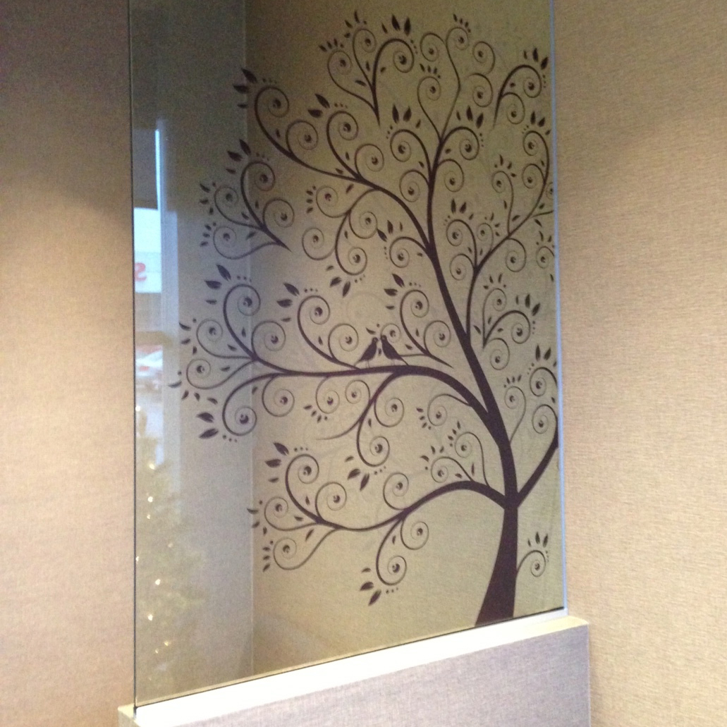 SF Graphix   Project: Dental Clinic Langley   Vector Art Printed to optically clear film