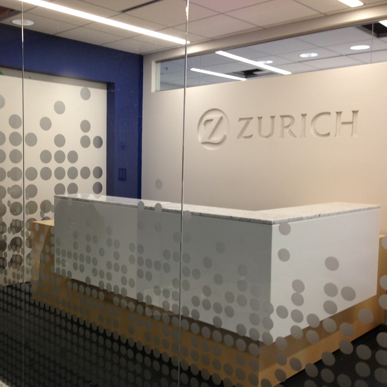 SF Graphix+   Project: Zurich Vancouver   Corporate/ Cut Vinyl Graphic