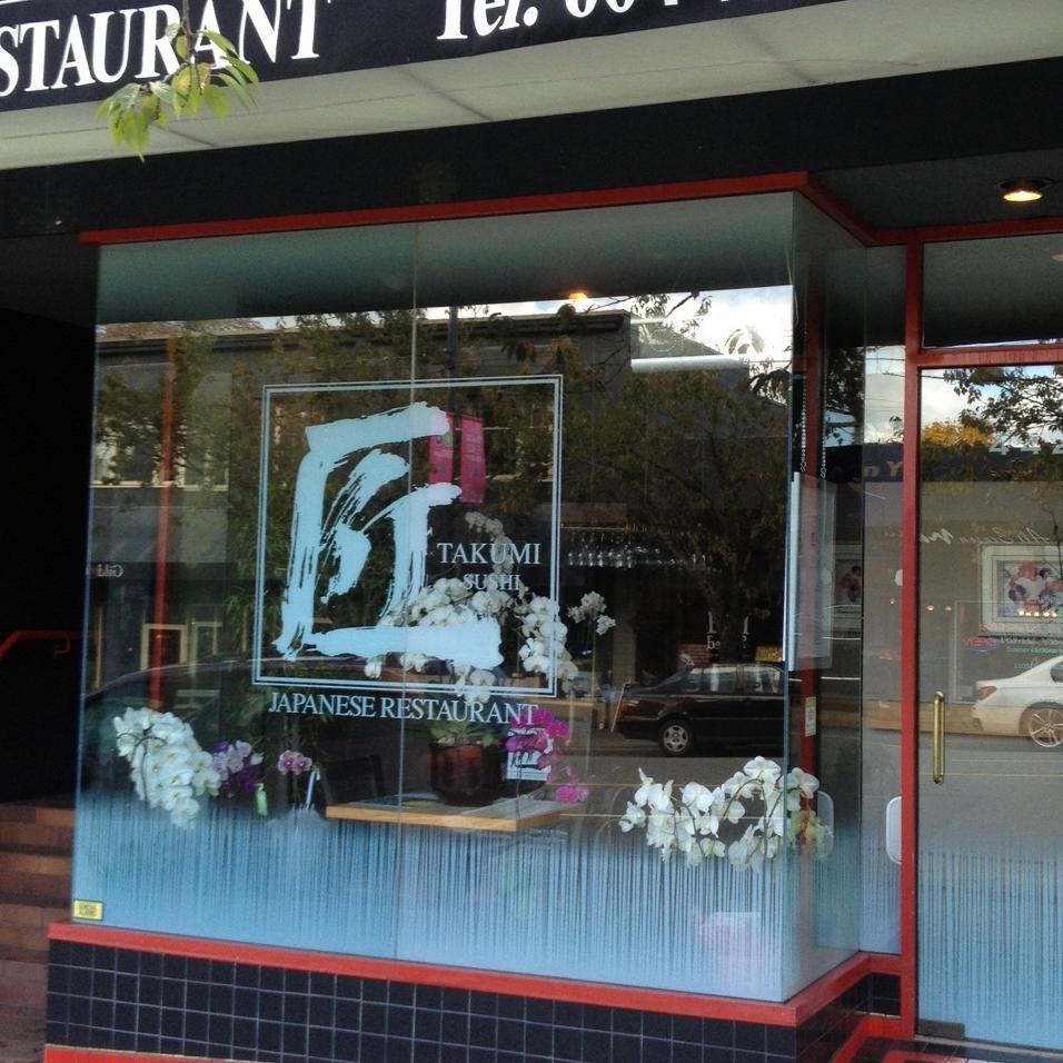 SF Graphix+   Project: Takumi Sushi   Restaurant / Custom Print in White