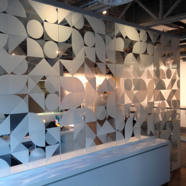 SF Graphix+   Project: Brooks Corning   Corporate/ Custom Print in White