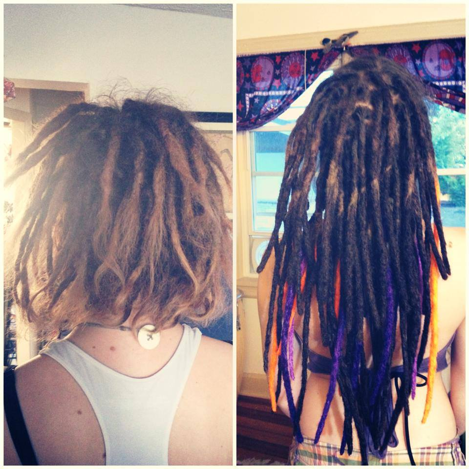 Dreadlocks extensions for short hair