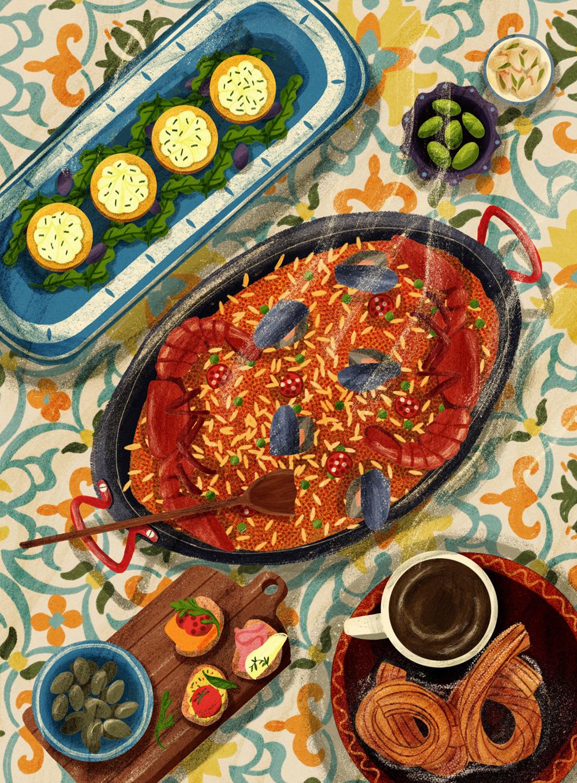 Catalonian food for Traveller Magazine
