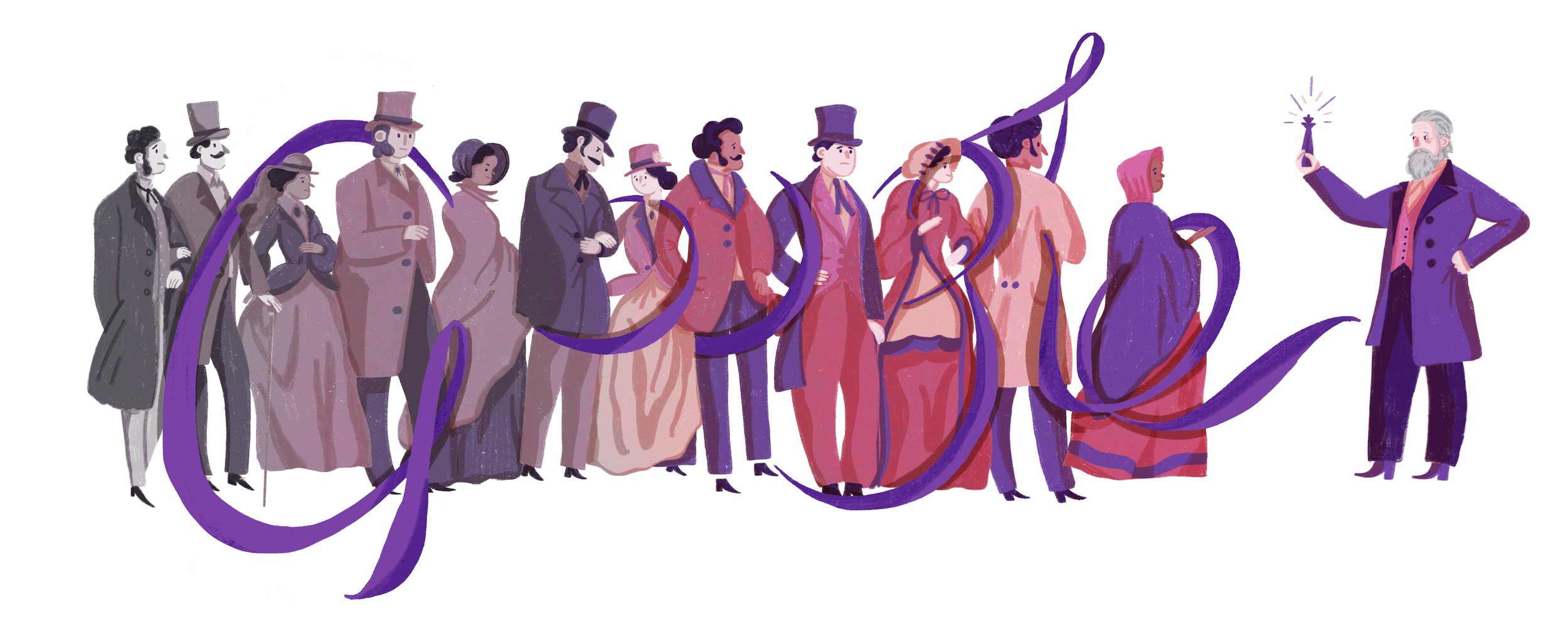March 12th 2018, Google Doodle celebrationg the 180th birthday of Sir William Henry Perkin
