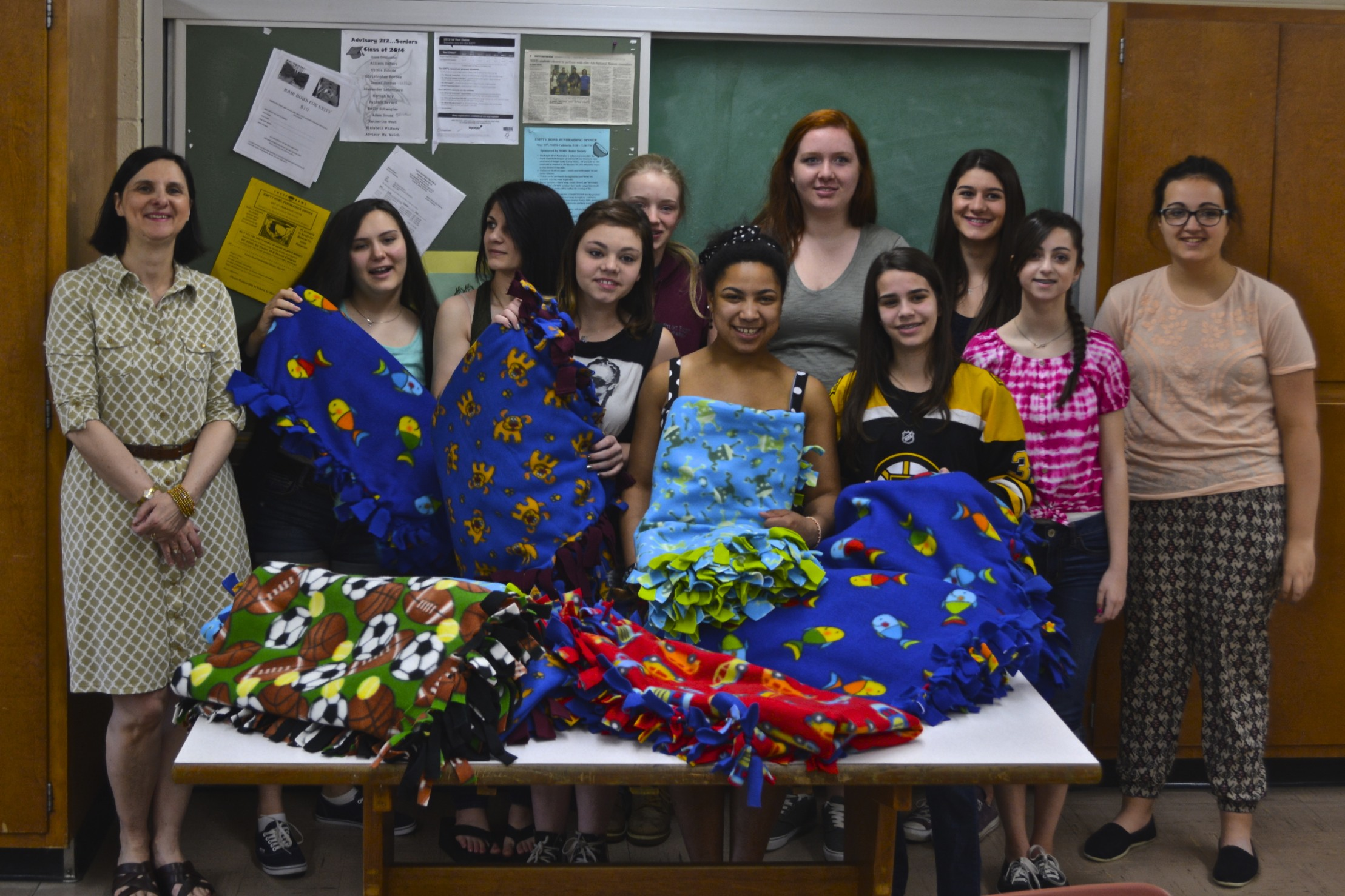 Students at NSHS doing great things! Thank you Mrs. Kolanko and the Fashion Design class!