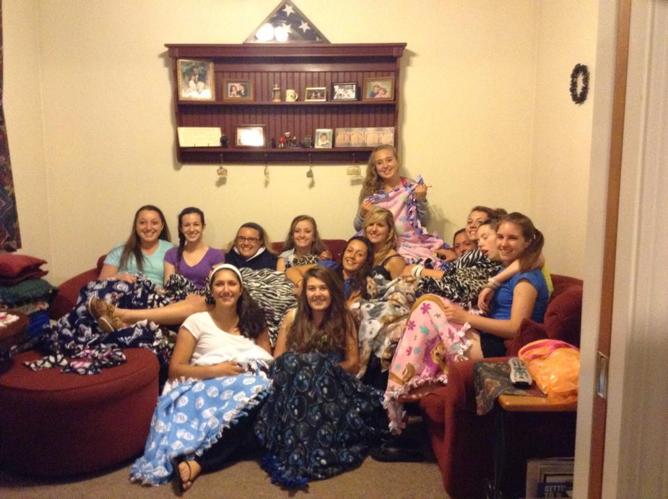 NSHS Girls Softball Team! Thanks You for making Hope Full RI 26 Blankets! Making a difference!!!