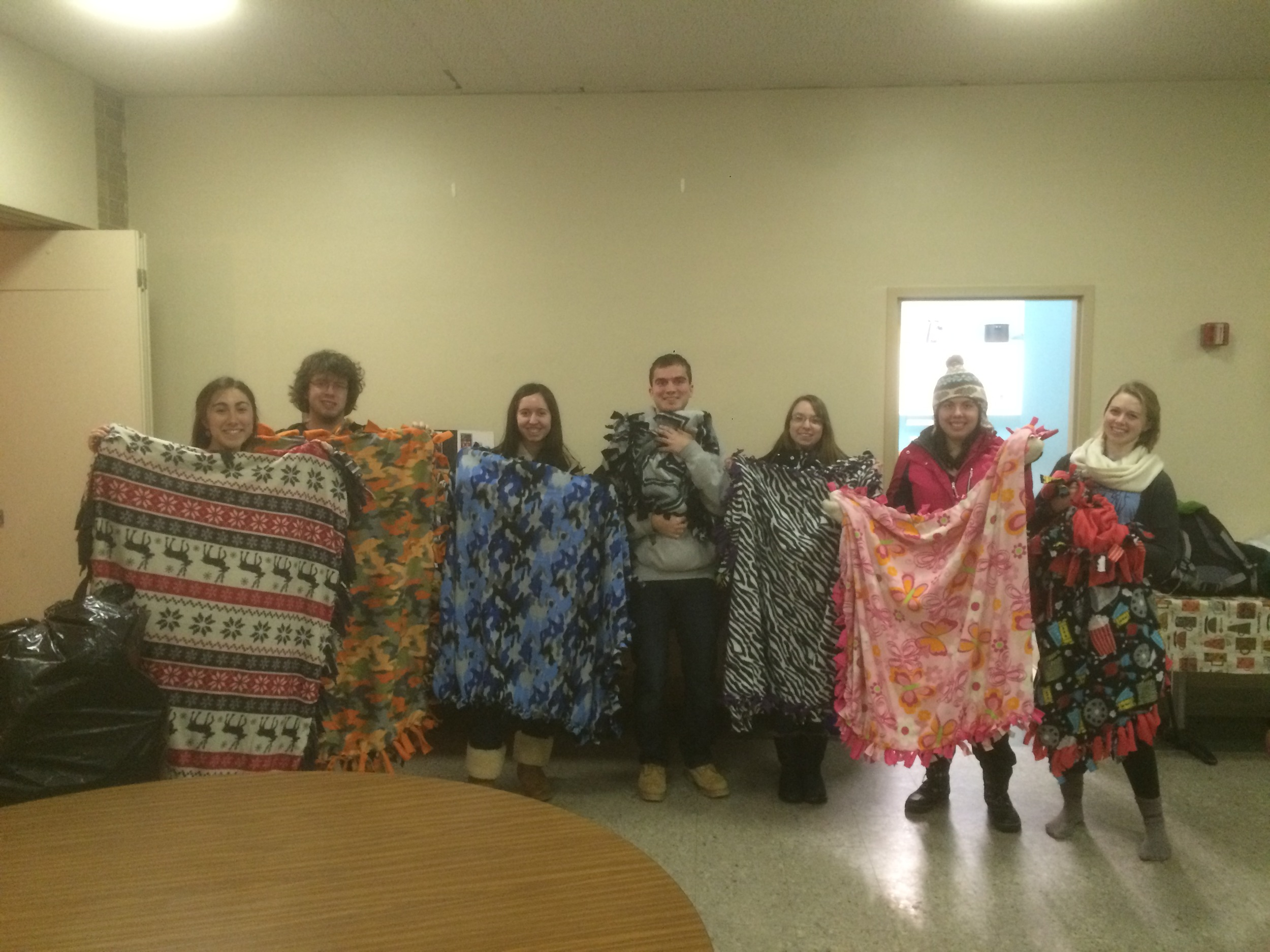 URI Newman Club you guys are the best!!! Thanks so much for the awesome blanketsyou madefor HopeFullRI.