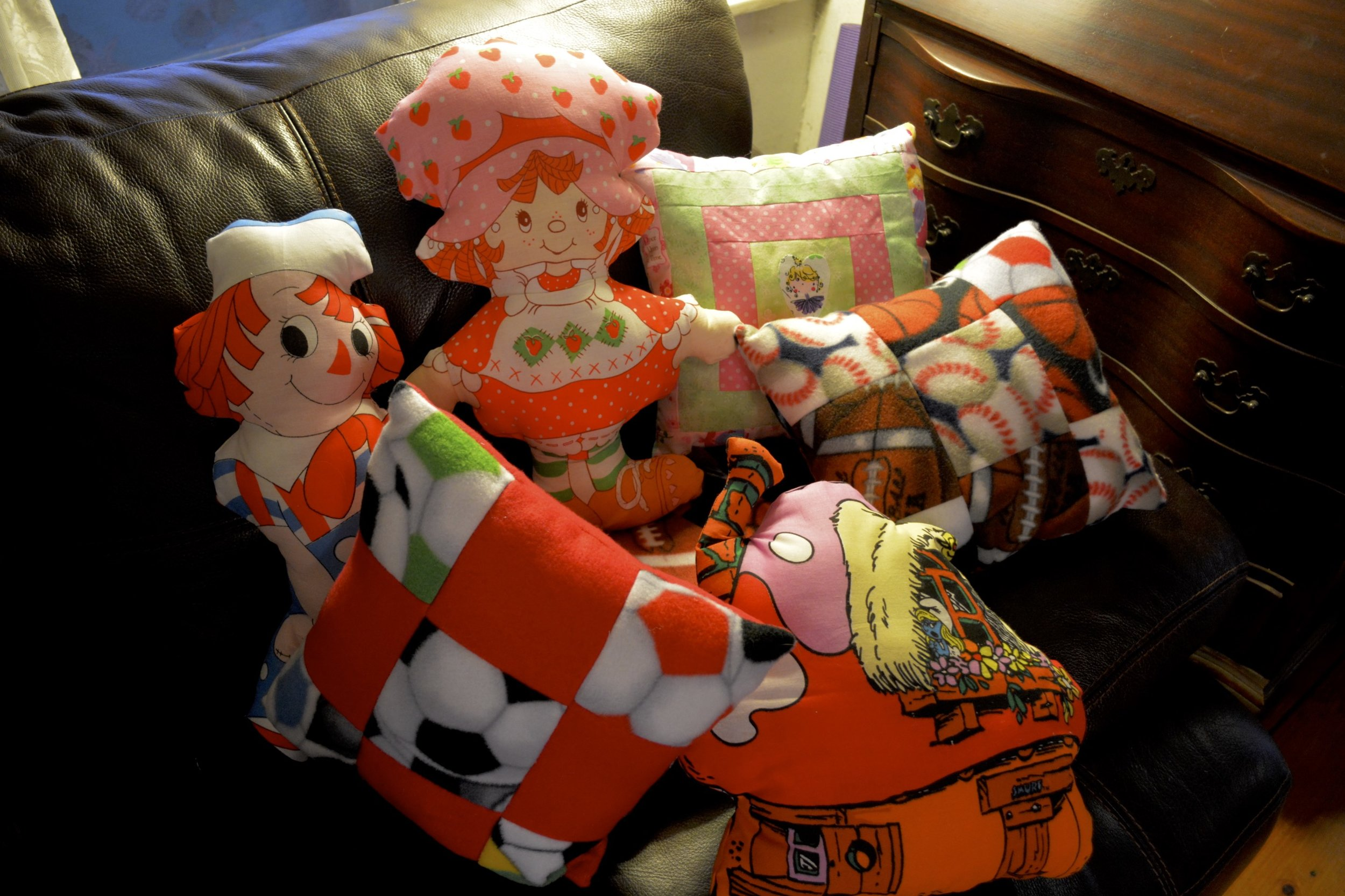 Our friend Stacy from Christ the King has made us so many beautiful pillows and blankets! Thank you so much!