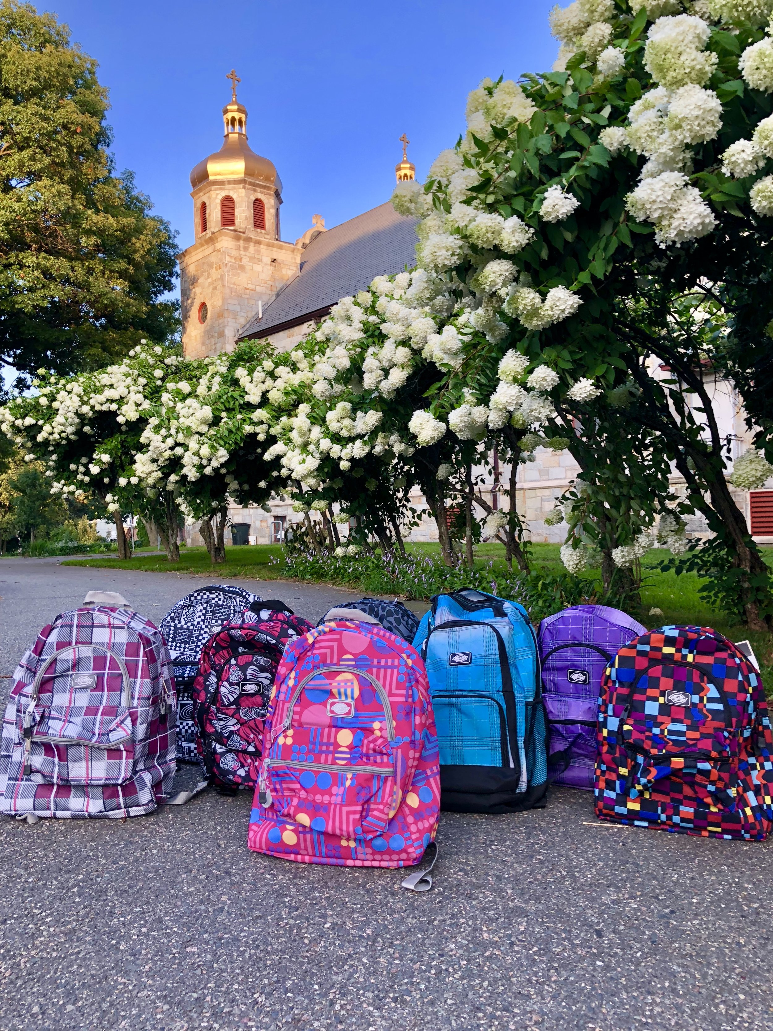 46 Backpacks donated by the amazing parishioners of St.Michael Ukrainian Orthodox Church. Every backpack was stuffed with love and school supplies. We are so grateful to everyone involved in this service project! The foster children of Adoption Rhode Island feel all the love you have sent! Thank You! *Click picture to link to St. Michael Ukrainian Orthodox Church*