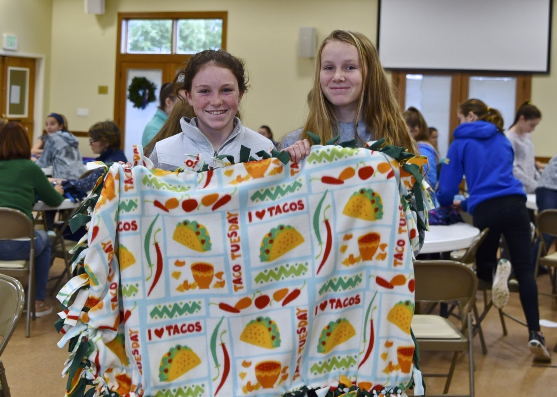 The 7th grade CCD classes at Christ the King Church chose Hopefullri as one of their service projects for 2018, thank you for another great year!!!! We are so grateful for the 74 blankets they made the foster children of Adoption Rhode Island! Kids helping Kids!
