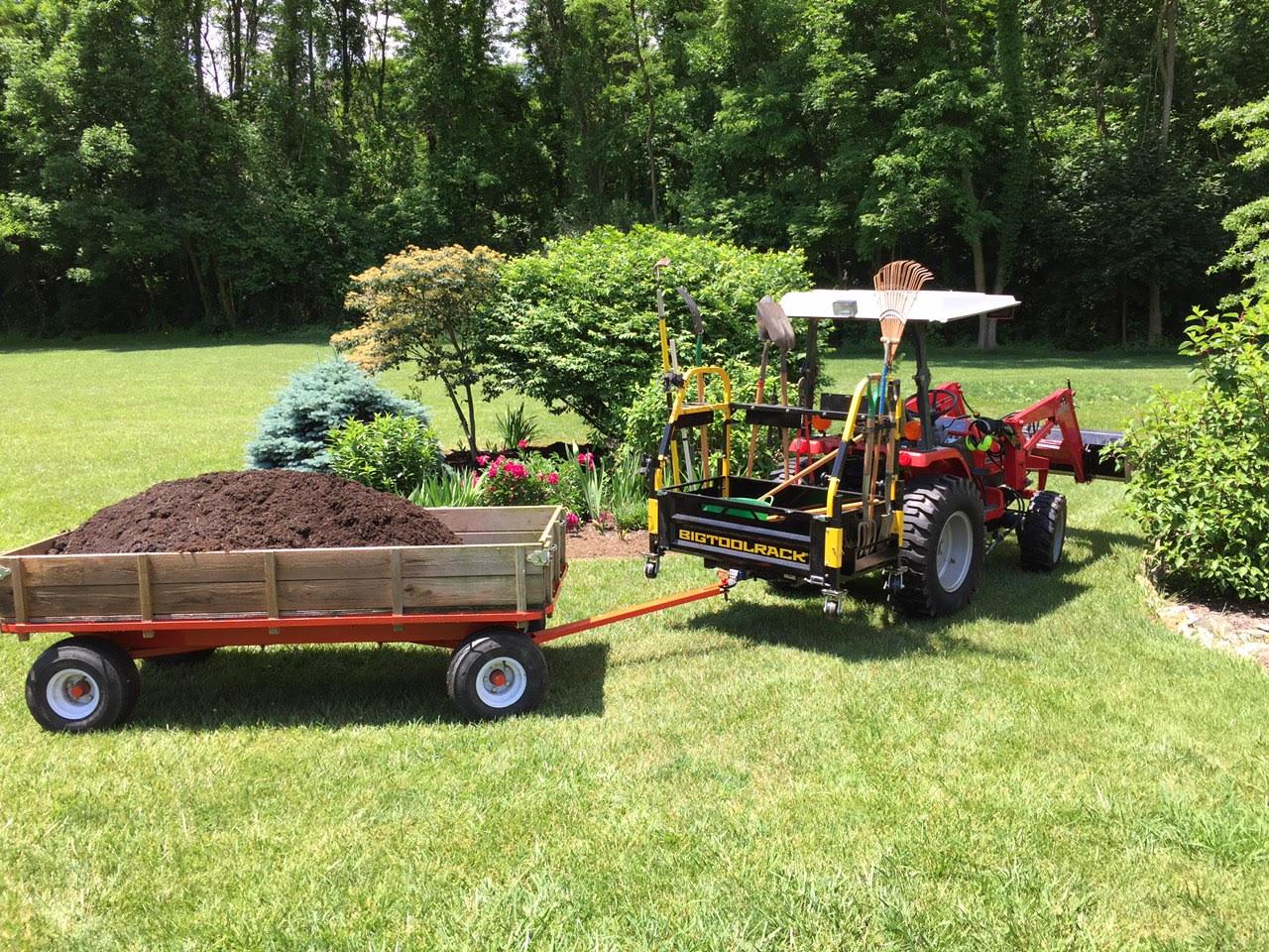Bigtoolrack Landscaping, garden tool equipment transportation, lawn and garden machines, professional garden hand tools, transport tools used for gardening, transport landscape tools