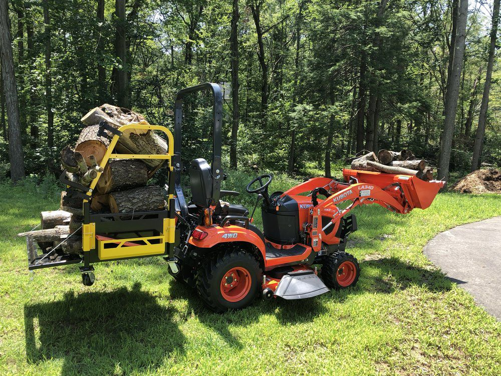 Bigtoolrack Haul Firewood, wood hauling truck, tractor cart for cutting logs, firewood chopping block for sale, firewood storage rack, best tractor cart for hauling wood, buy online firewood cart, tractor box for hauling wood.