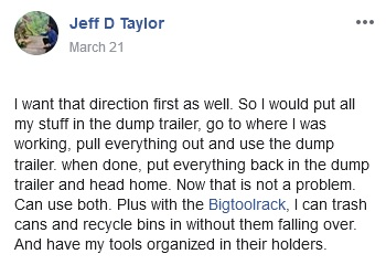 Jeff's reason why he chose Bigtoolrack