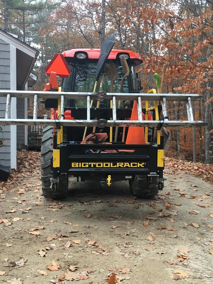 Move your ladder with your tractor along with all the tools for the job