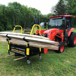 3 point carry all Bigtoolrack wood fencing