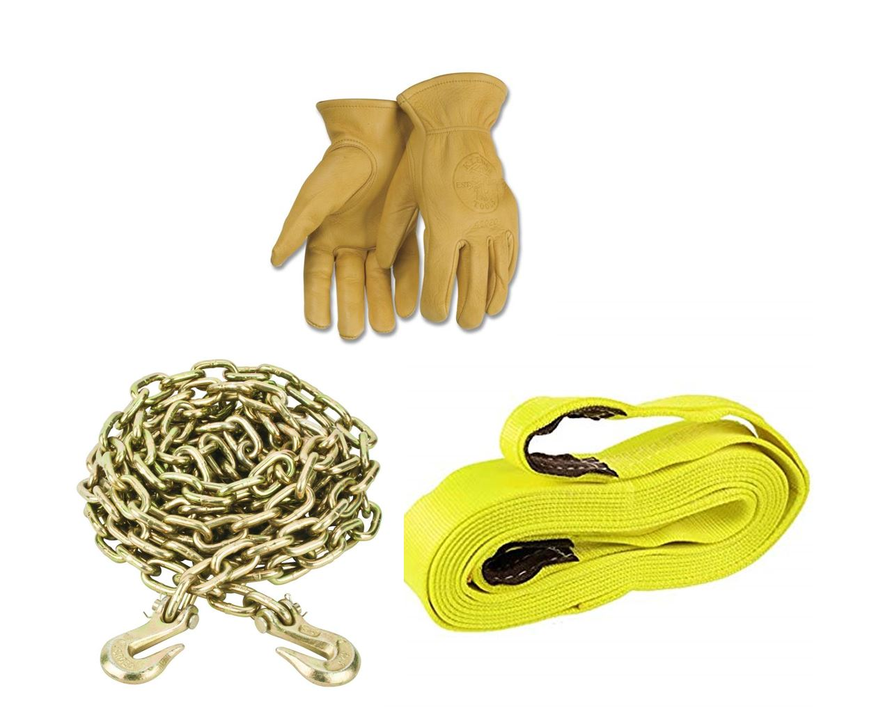 Carry tow chains, ropes, straps, wedges, small garden tools, knives gloves ties down, oil, files, small fuel cans, hitch pins, wrenches and more in our 4 side storage bins