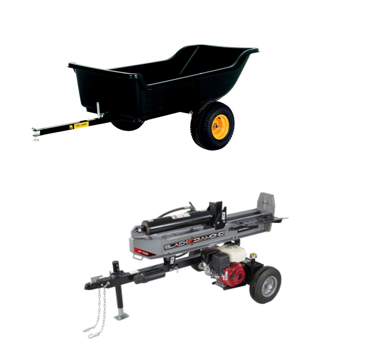 1 Hitch port so you can tow a small trailer, log splitter or spreader.