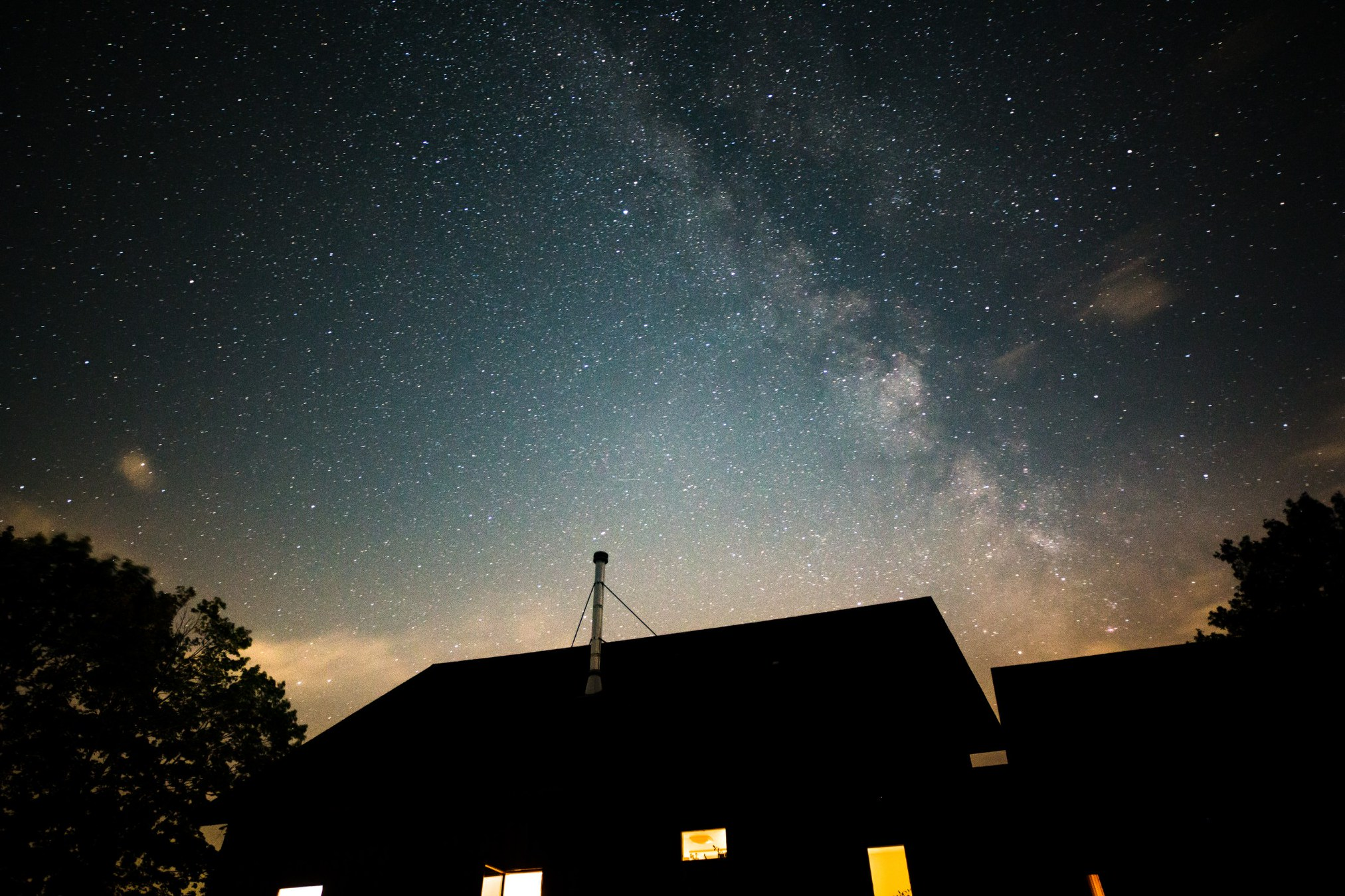 Completely magical photo by Andy Heist of the Milky Way above Rachel's house on the night of the solar eclipse.