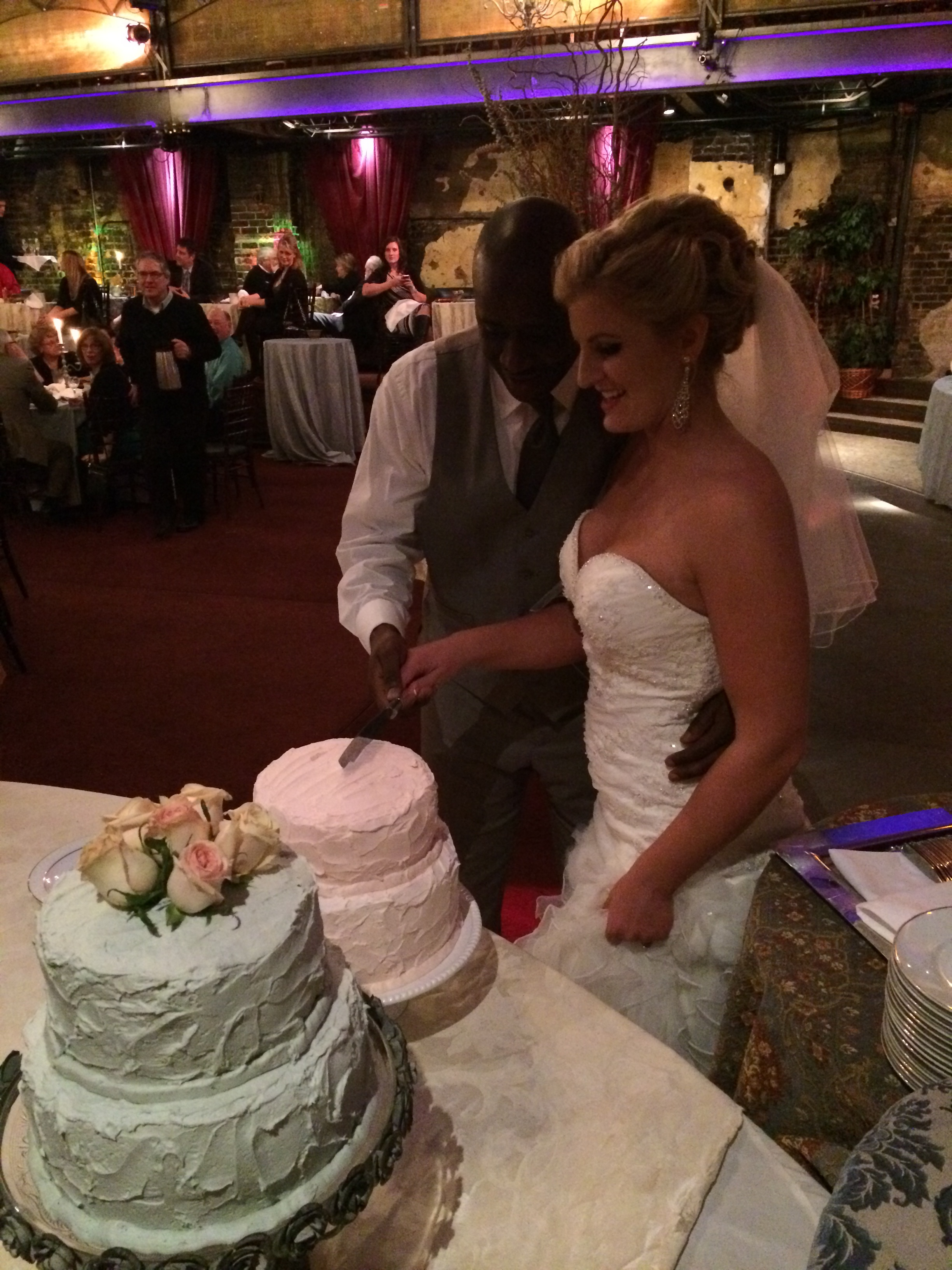 The beautiful bride and groom! Congratulations Andrea and Duncan