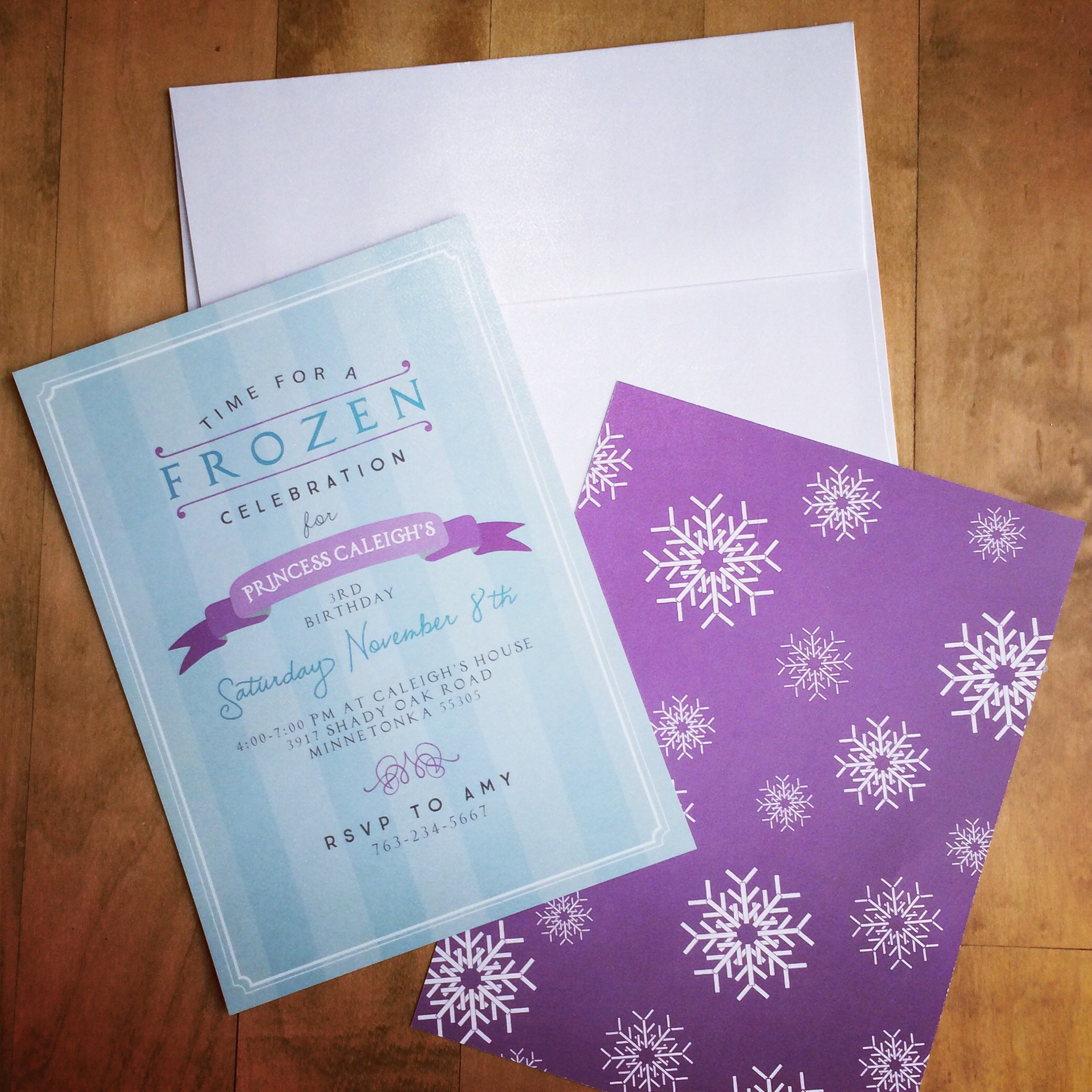 Invitations done by Jess Kasteler Design Studio