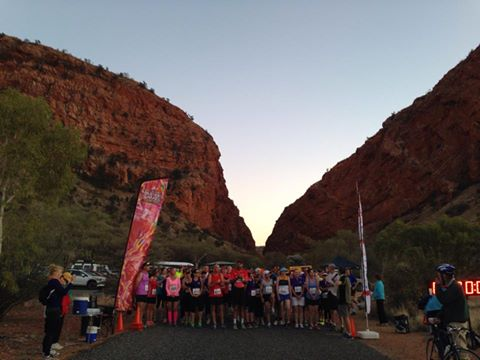 The good folks at the Alice Springs Running and Walking Club getting ready for a 10K walk.
