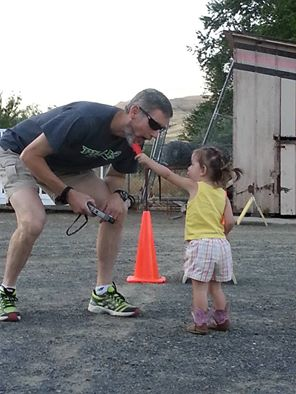 Time out on timing this summer to lick a granddaughter's popsicle. It was her first 5K.