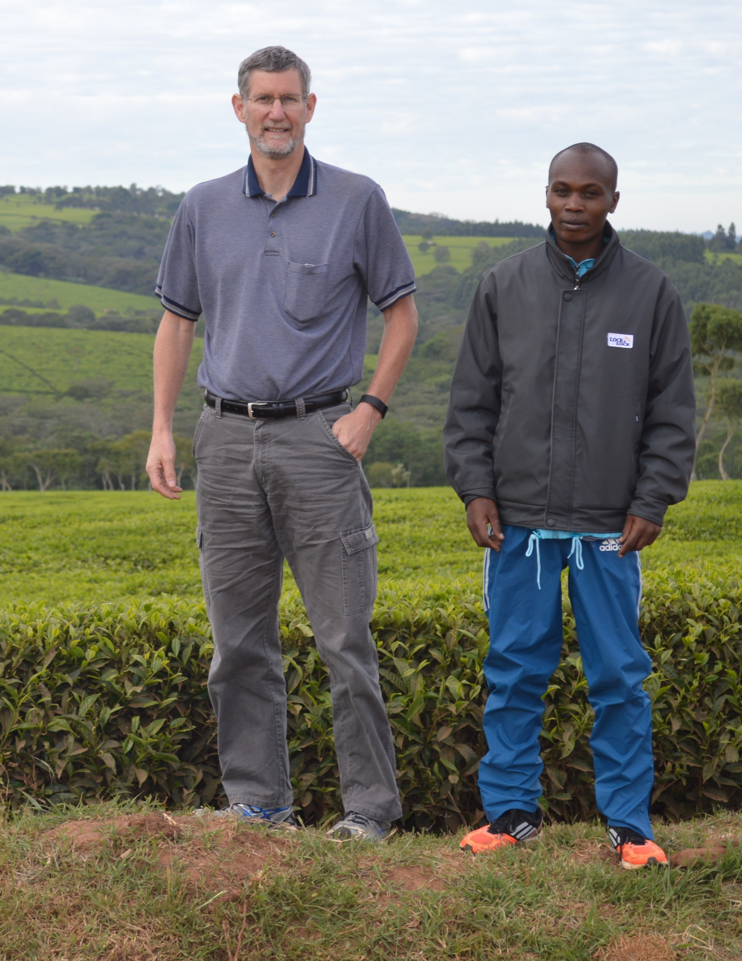 Paul Duffau and Justin Lagat in Nandi Hills