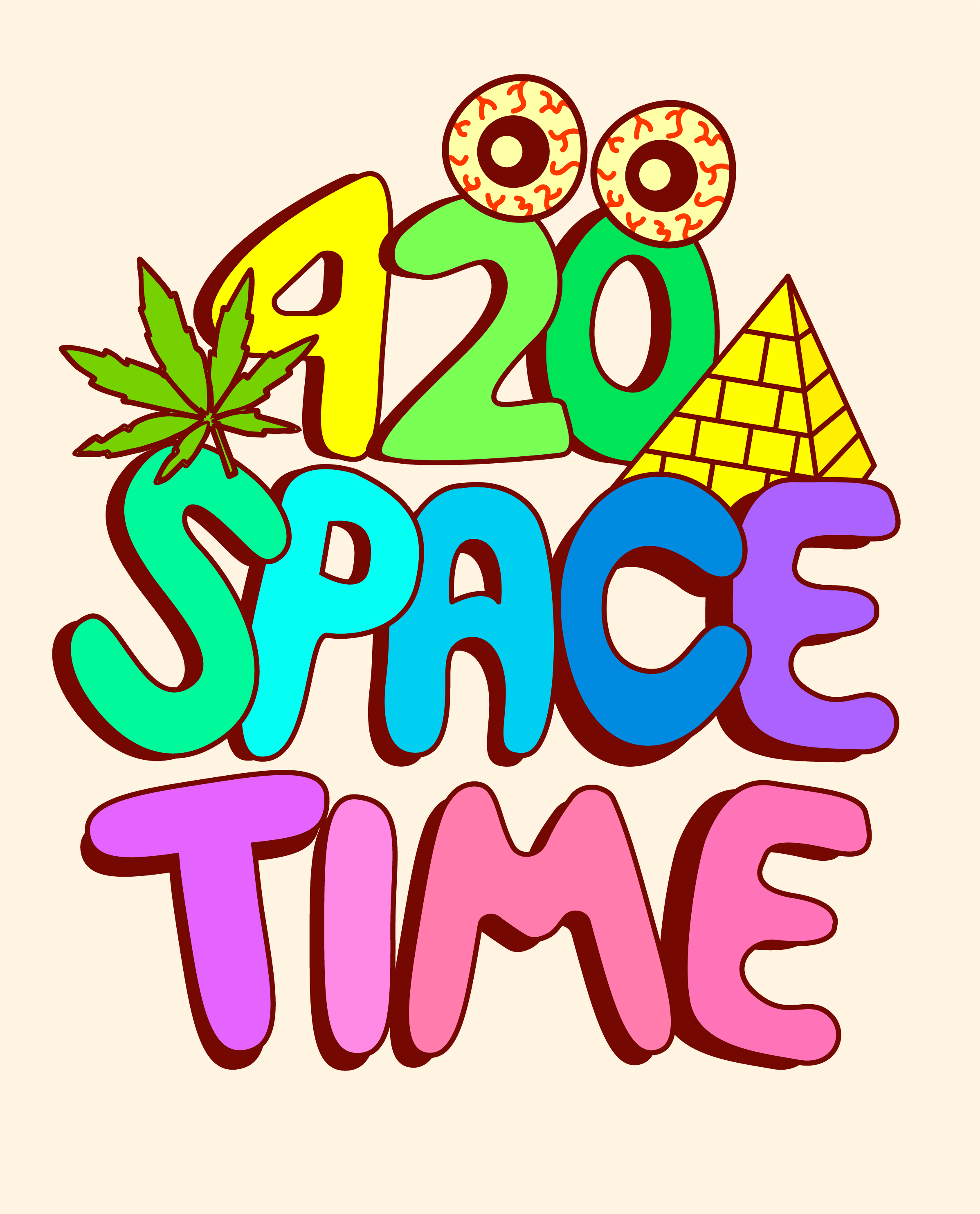 T-SHIRT DESIGN FOR @420SPACETIME