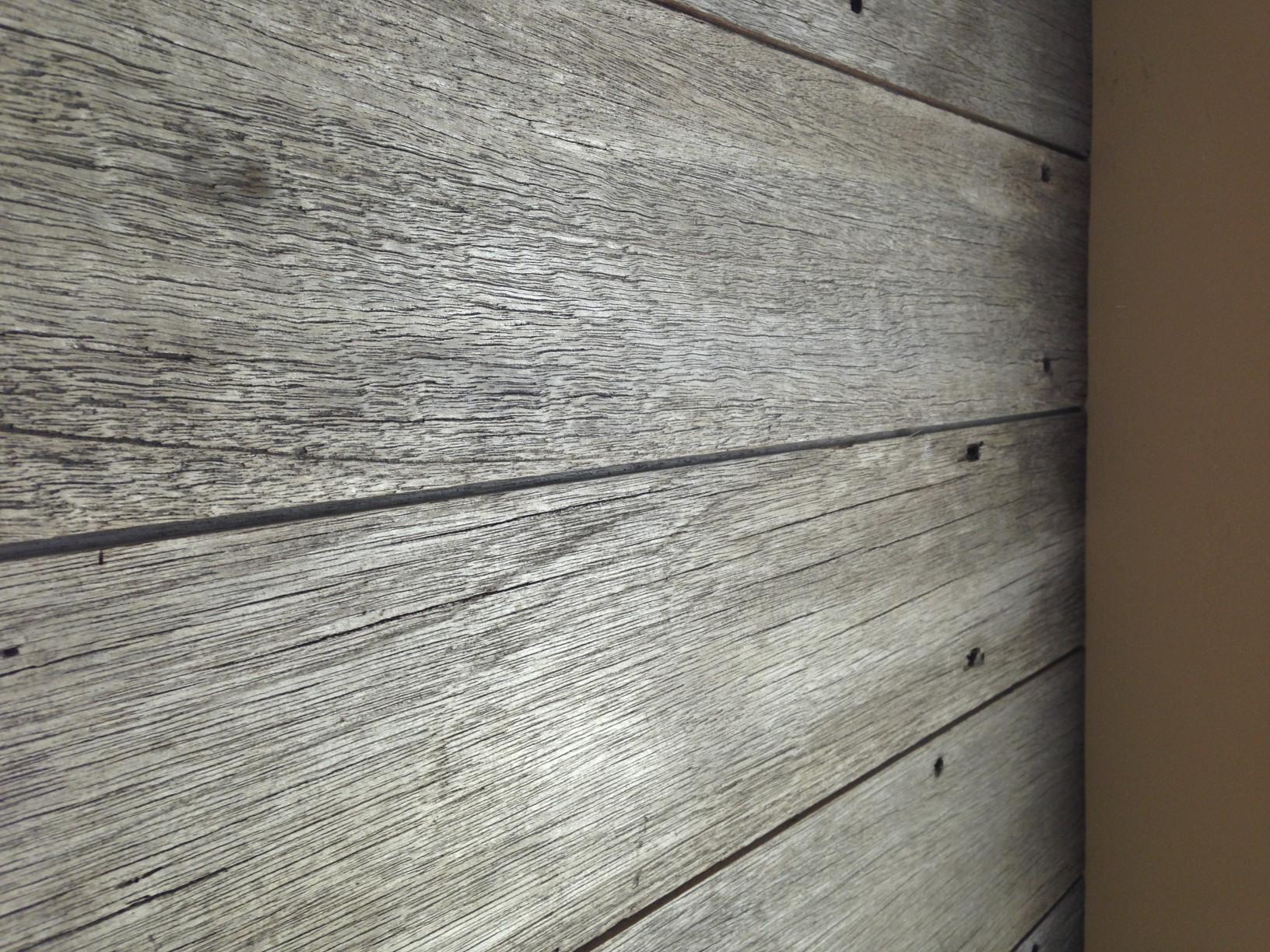 Weathered Gray Wood Wall