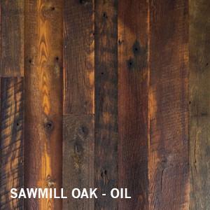 Sawmill Reclaimed Oak Dark Distressed Flooring