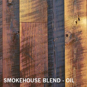 Reclaimed Smokehouse Blend distressed cladding + paneling