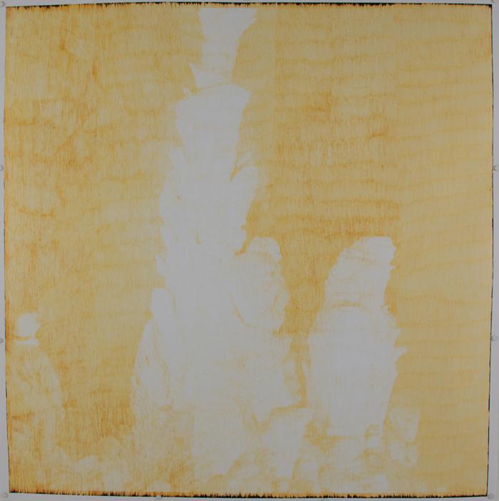 """Shanna Maurizi,  Krizna Jama,  Chromogenic print with emulsion removed, 50"""" x 50"""", 2015"""