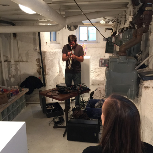 """Alex Huberty in performance as part of """"Total Styrene: True Believer"""" Photo credit: Olympia Shannon"""