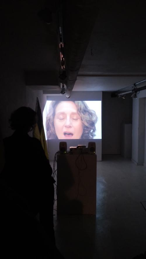 "Michelle Jaffe video projection as part of ""Total Styrene: True Believer"" Photo credit: Julian Pozzi"