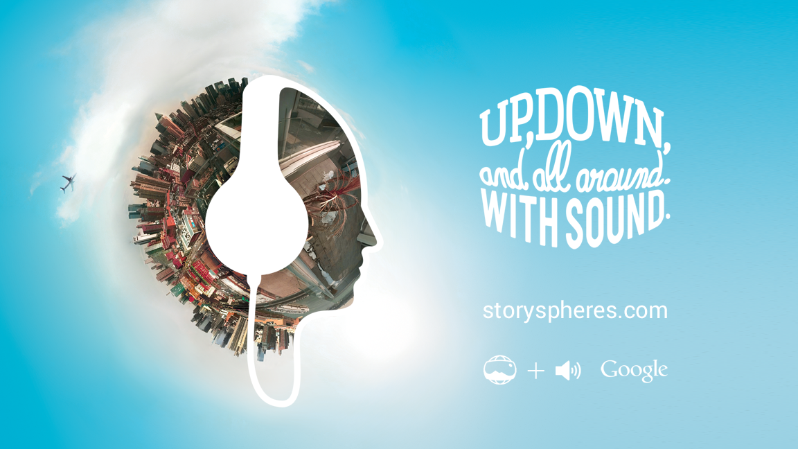 Story Spheres  is a way to add stories to panoramic photographs. It's a simple concept that combines the storytelling tools of words and pictures with a little digital magic.