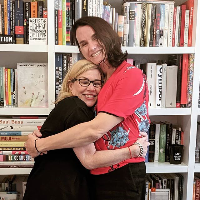 Did I mention I had the BEST time recording a very personal episode of #designmatters podcast with the amazing, beautiful, ever insightful @debbiemillman 💕🥰 #aiga #99u