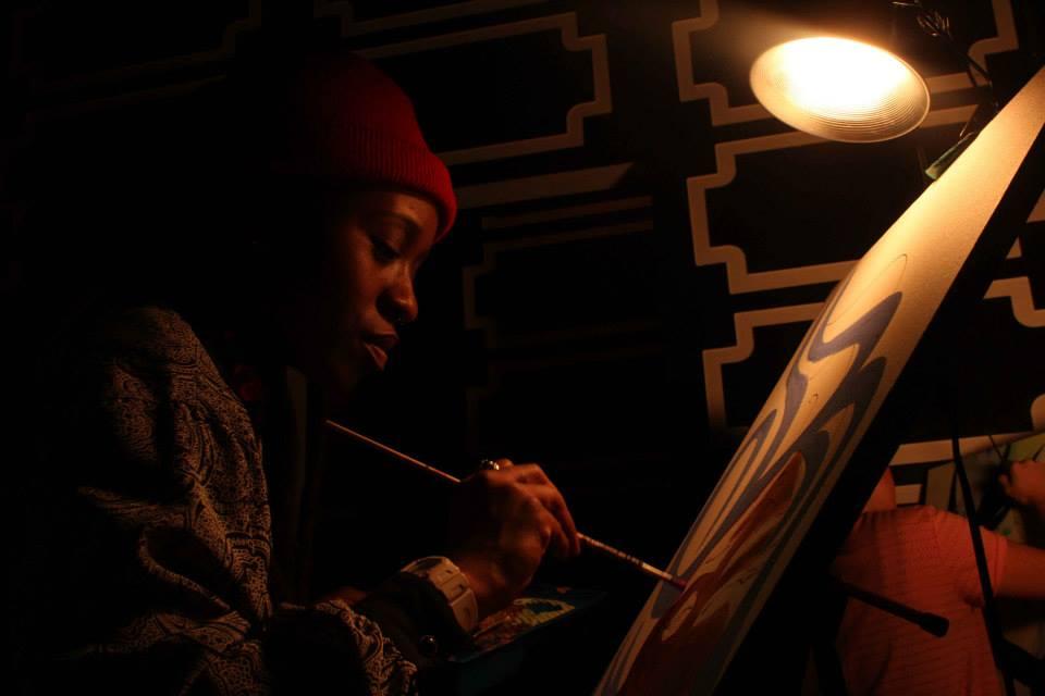 live painting at Ella Lounge NYC