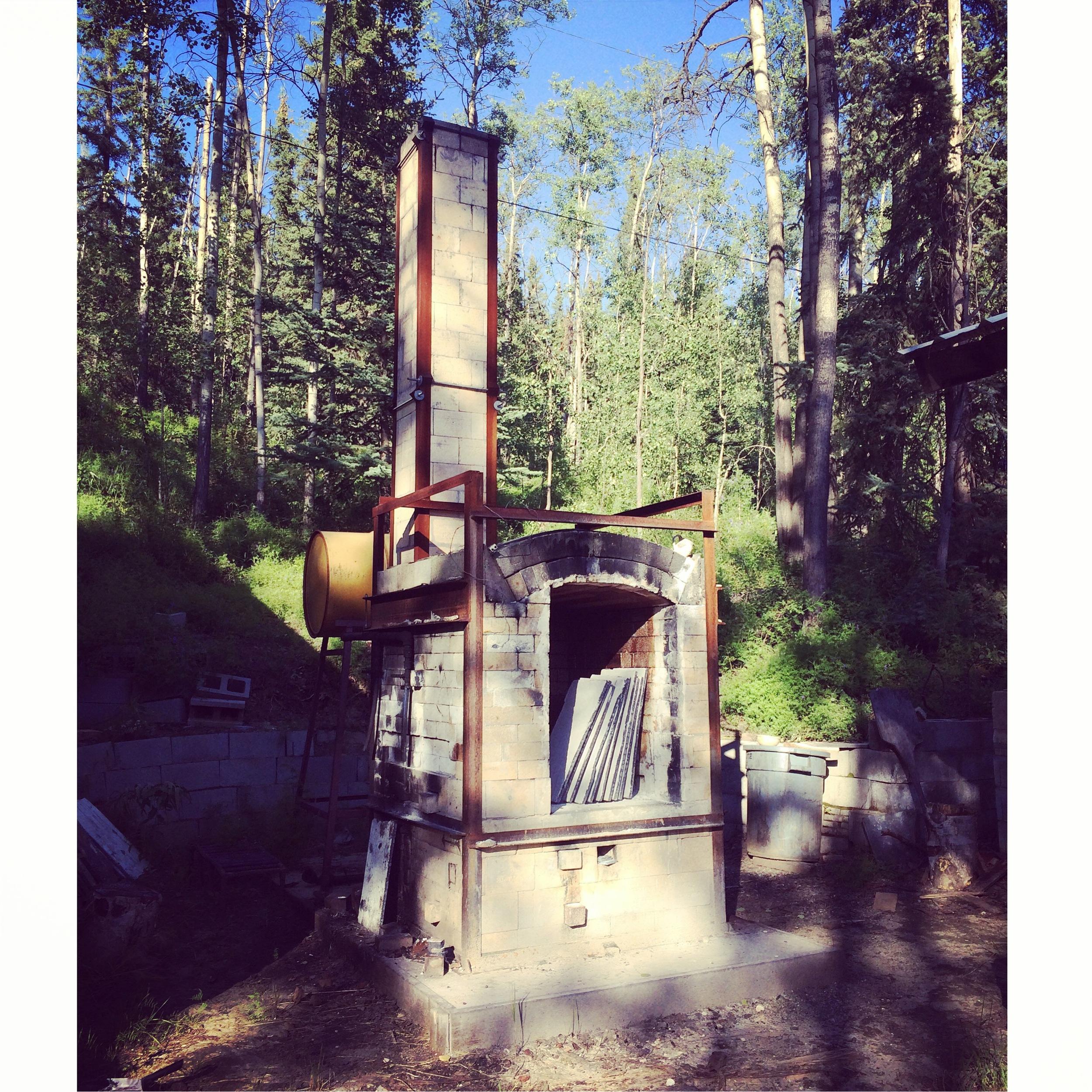 The UAF Waste oil/Soda Kiln!