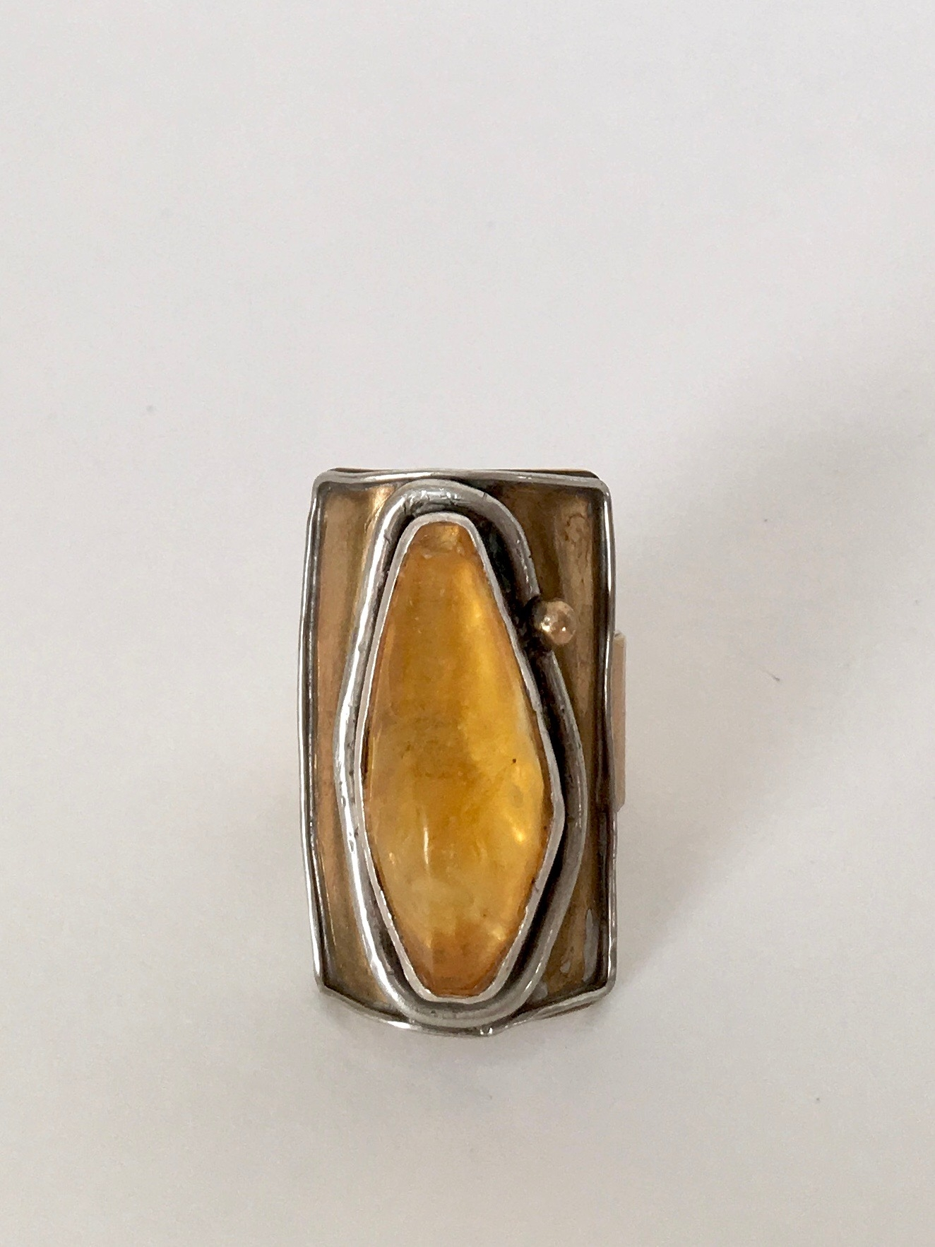 Brass, silver, Lithuanian Amber. 2013