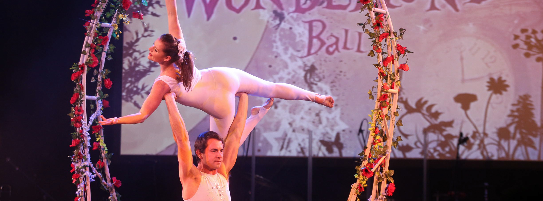 Aerial and acrobatic dancers