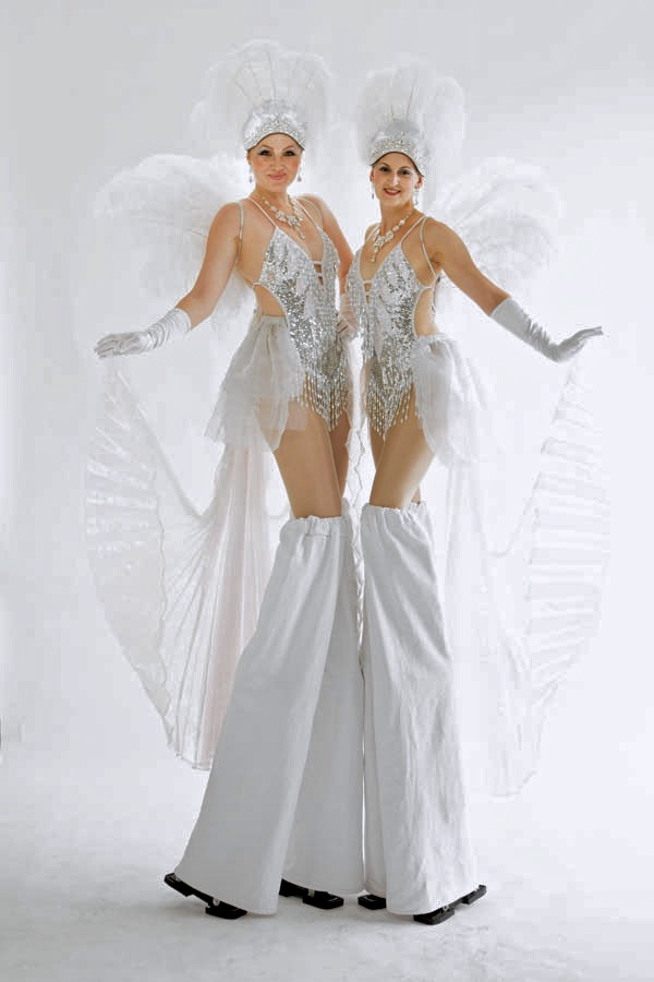 White and silver showgirls.jpg