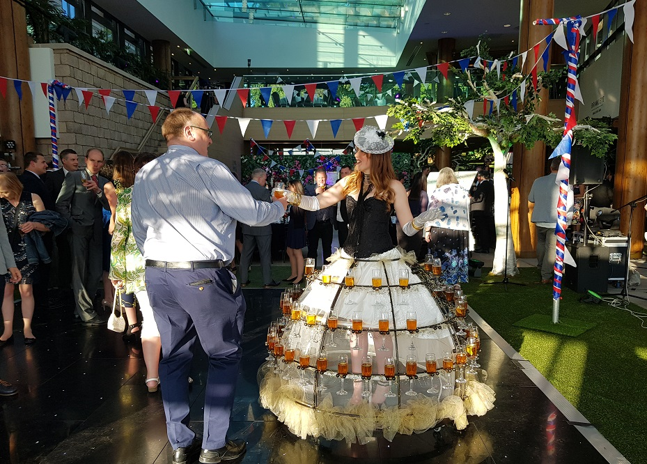 Ladies Day champagne skirt with guest.jpg