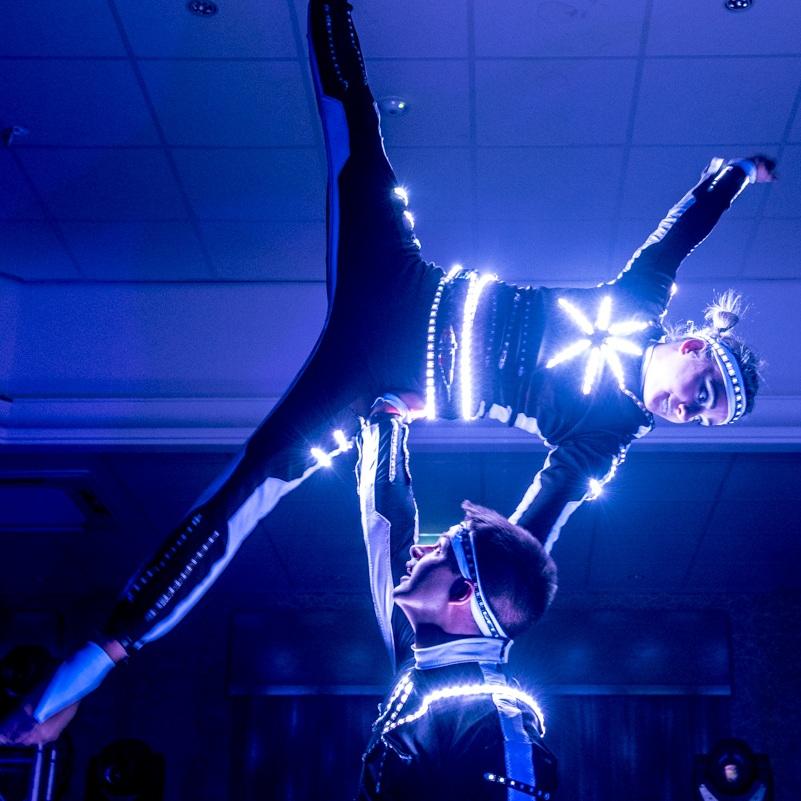 led acrobats
