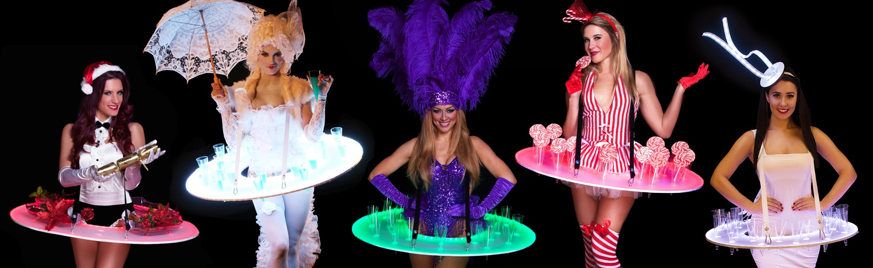led roaming tables for hire
