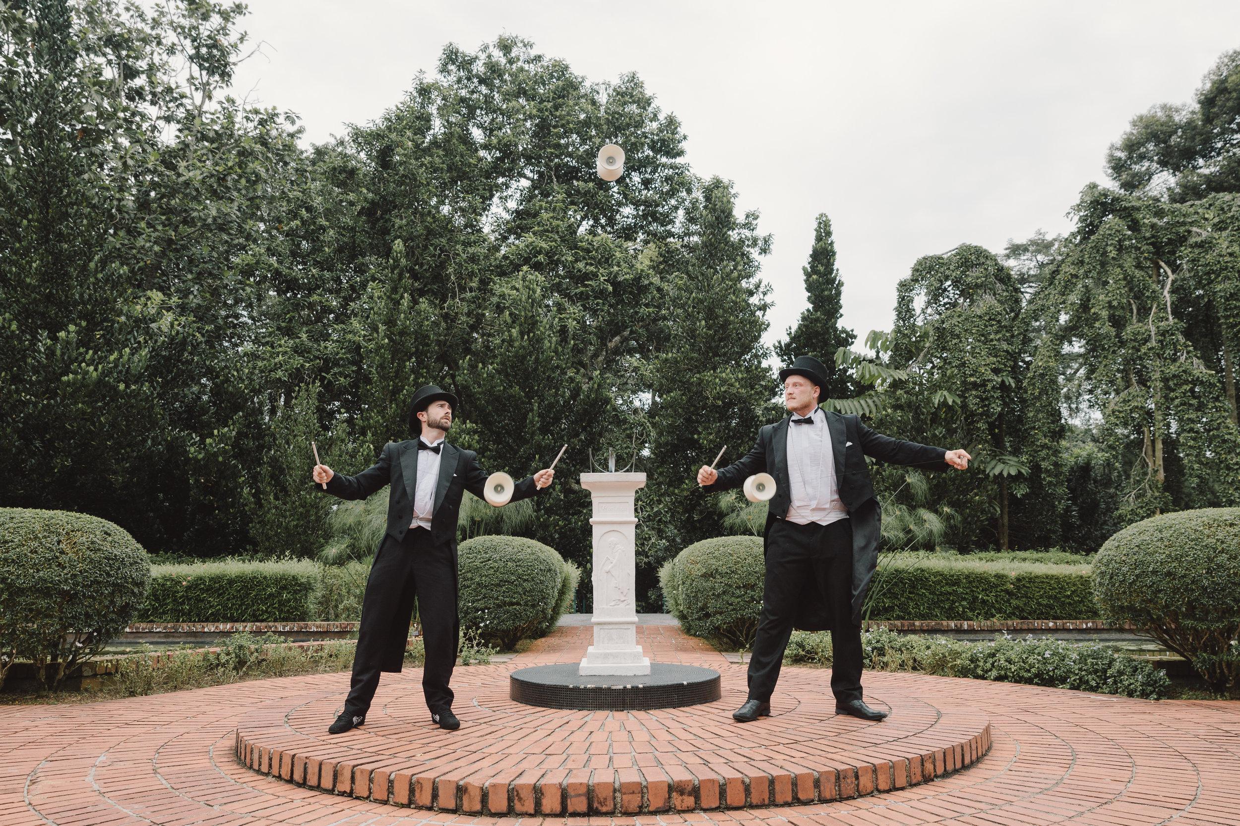 TWo Gentlemen  Juggling Acrobats