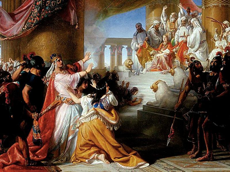 Athalia's Dismay at the Coronation of Joas by Soloman Alexander Hart (1806 - 1881)